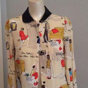 """Kate spade 100 % silk blouse """" Joie de Vivre"""""""
